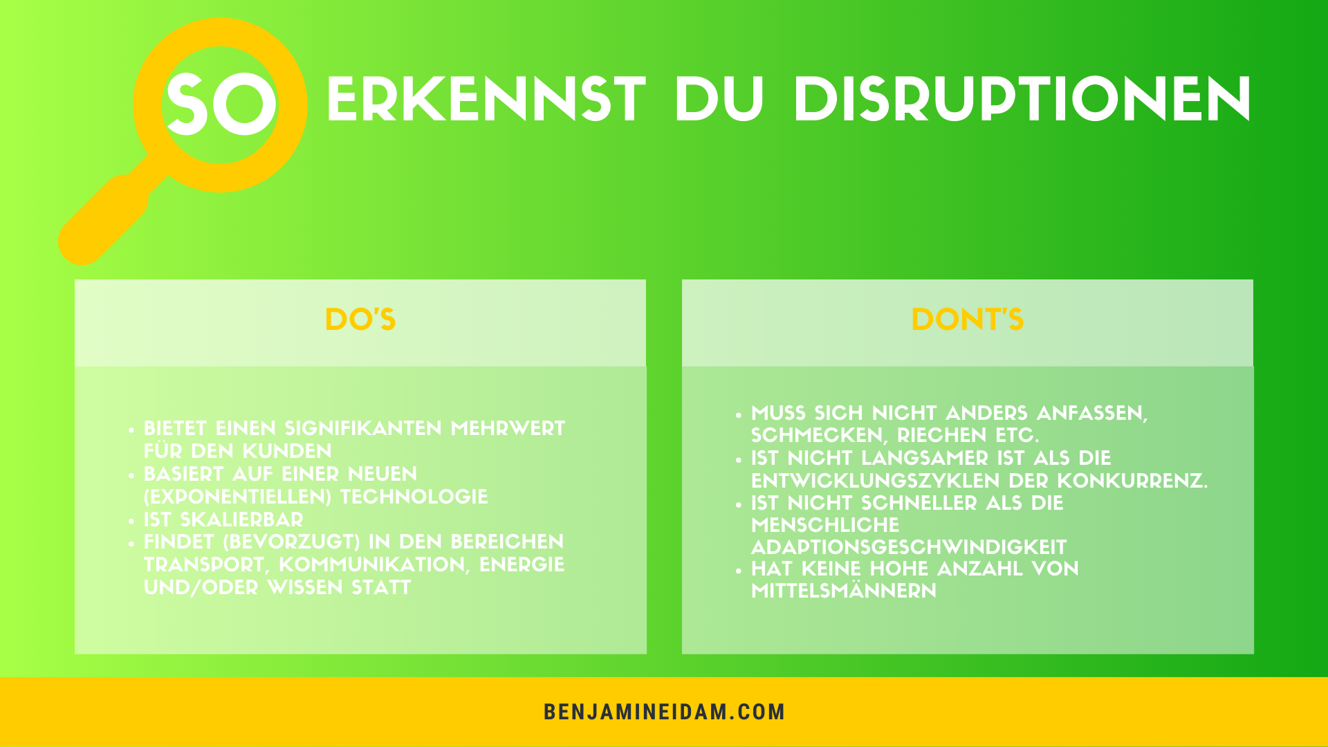 Disruption - So erkennst du Disruptionen