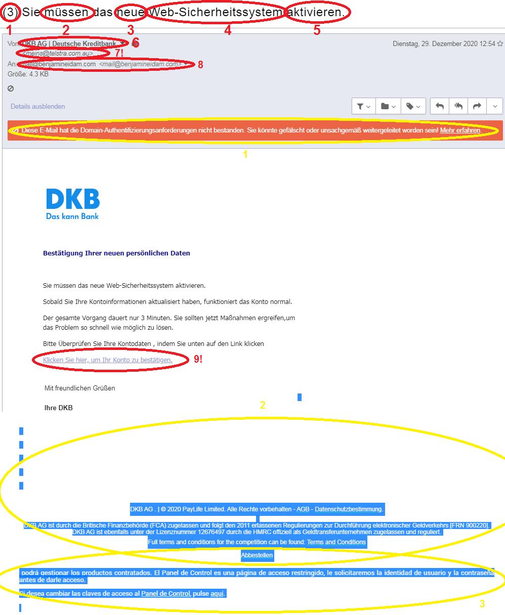 Phishing Beispiele - 2. der Klassiker Versicherung_marked