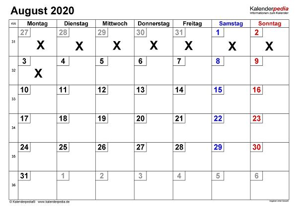 Umgebungsdesign per Kalender