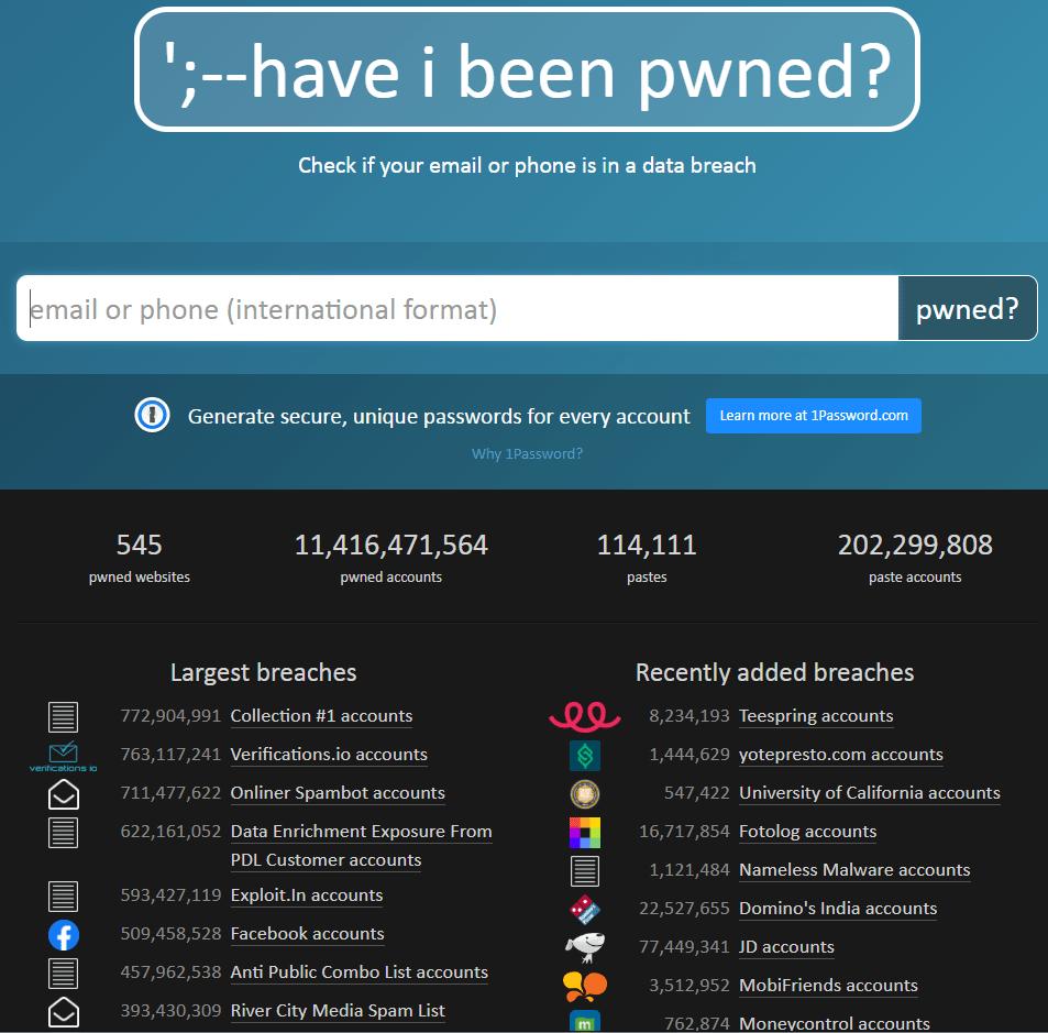 HaveIBeenPwned ist wichtig zur Cybersecurity zu wissen